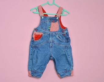 50686c80673 Mexx overalls baby Vintage Denim kid jean Dungarees Romper Jumpsuit 90s  Kids size 74, 12 months