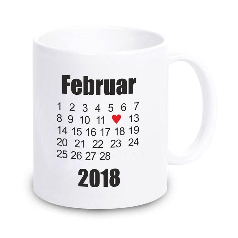df34f28a100 Personalisierte Tasse mit beliebigem Datum | Etsy
