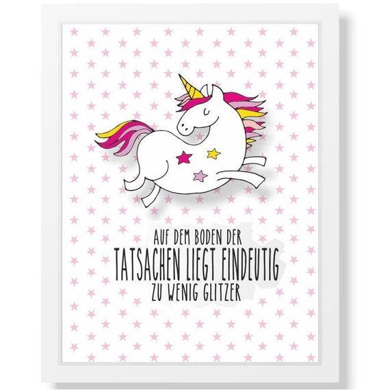 Verjaardag Glitter.Unicorn Muurschildering Geschenk Idee Verjaardag Glitter