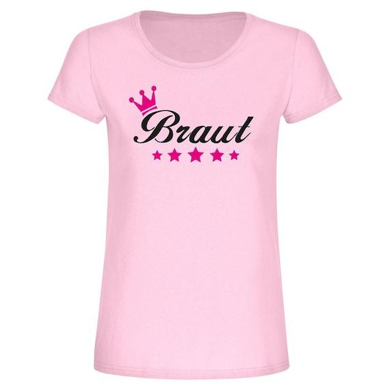 Junggesellinnenabschied T Shirt Braut Mit Krone Etsy