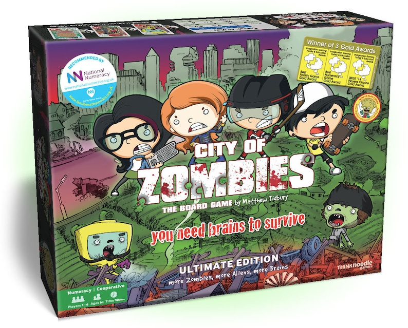 City of Zombies  A Cooperative Family Board Game that makes image 0