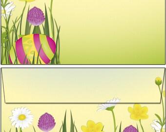 Blumenwiese Motivpapier Briefpapier Mappe 20 Blatt A4 20 Kuverts Blüten Blume