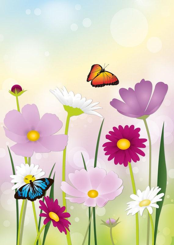 Schreibblock Blumenwiese Blüten A4 25 Blatt Briefpapier Motivpapier Briefblock