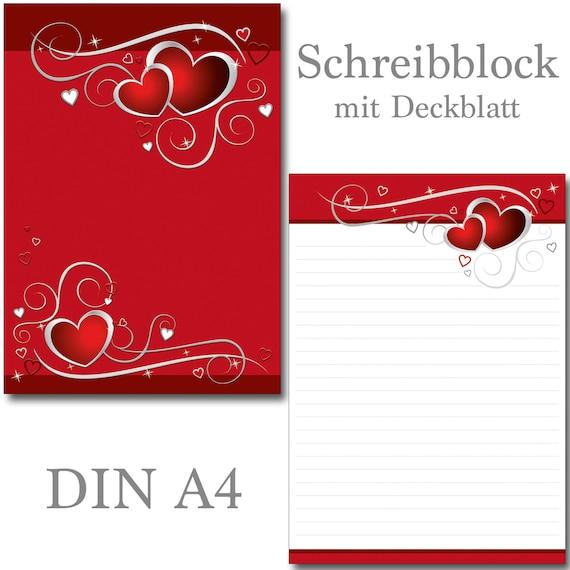 Schreibblock Klee Marienkäfer  A4 25 Blatt Briefpapier Motivpapier Briefblock