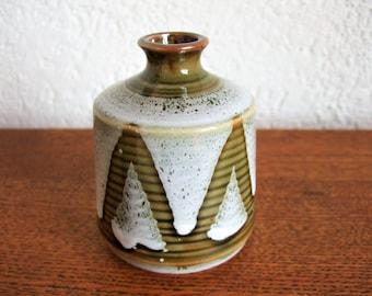 vintage vase running glaze