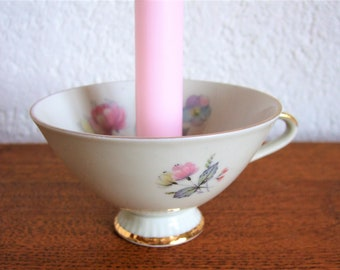 unique cup chandelier violet bouquet pink