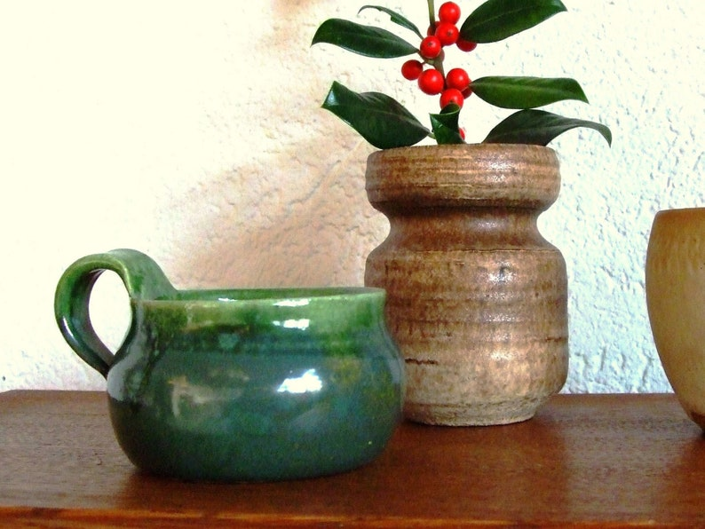 Vintage ceramic duo vase tasse image 0