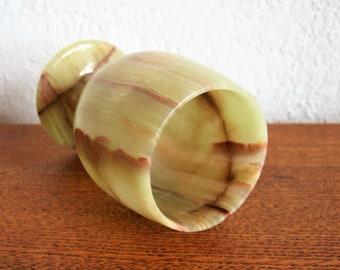 vintage cup cup onyx marble