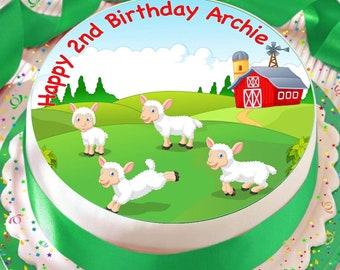 Bauernhof Huhn 24 Personalisierte Vorgeschnittene Kreise Essbare Cupcake Aufleger Geburtstagskuchen Dekorationen