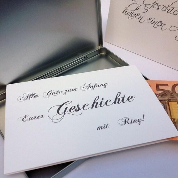 Geldgeschenk Hochzeit Geld Verpacken Idee Karte Etsy