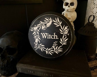 Witch Sign, Witch Decor, Witchcraft, Pagan, Wicca, Goth, Rustic Decor, Primitive Decor, Wood Sign, Victorian Decor, Vintage Decor,