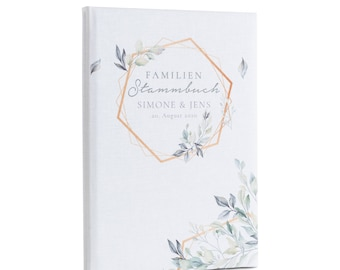 Family register 'Benita' Family master book . Marriage Certificate printed linen cover . Personalized