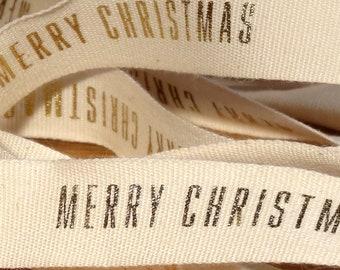Geschenkband Frohe Weihnachten.Frohe Weihnachten Band Etsy