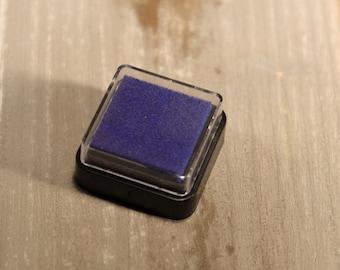 Stamp cushion, blue