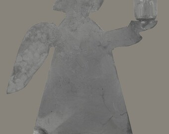 IB Laursen Candle Holder Angel Zinc