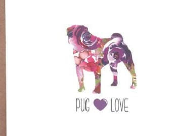 Pug Cards, Pug, Dog Cards, Greeting Cards, Dogs, Stationery, Notecards, Note Cards