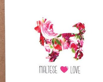 Maltese Cards, Maltese, Dog Cards, Greeting Cards, Dogs, Stationery, Notecards, Note Cards