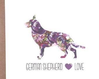 German Shepherd Cards, German Shepherd, Dog Cards, Greeting Cards, Dogs, Stationery, Notecards, Note Cards