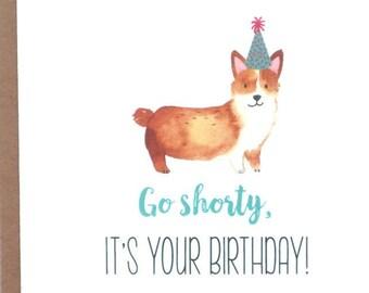 Dog Cards, Corgi Card, Corgi Birthday Card, Birthday, Greeting Cards, Dogs, Stationery, Notecards, Note Cards