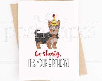Dog Cards, Yorkie Card, Yorkie Birthday Card, Yorkshire Terrier, Birthday, Greeting Cards, Dogs, Stationery