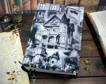 Book cover Haunted House for hardcover / paperbacks up to 22 cm book height