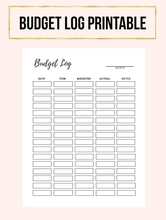 budget printable monthly budget printable printable budget etsy
