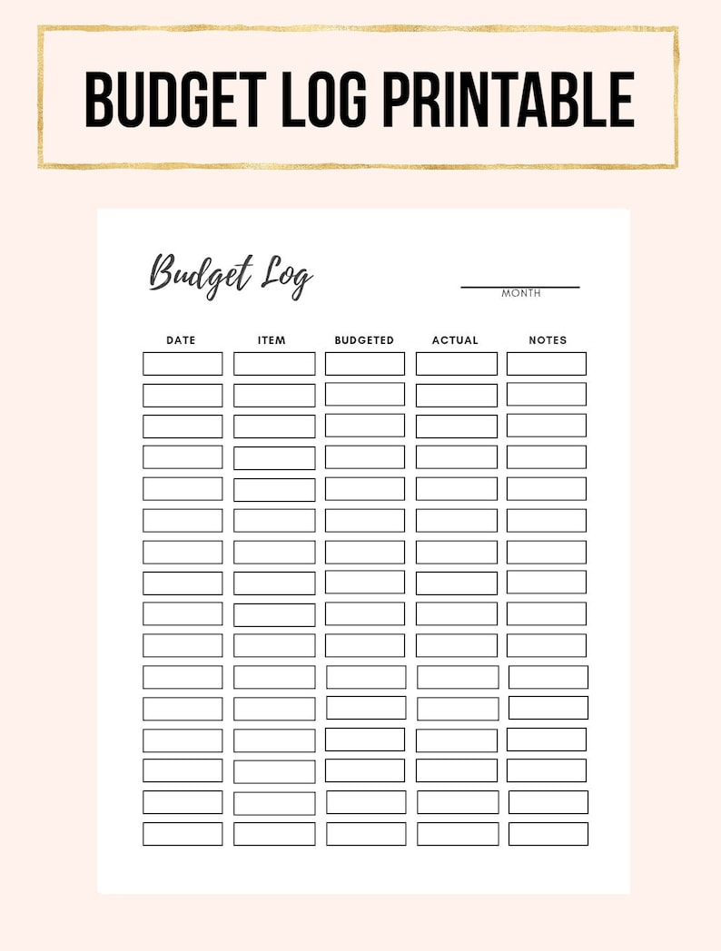 picture relating to Printable Monthly Budget identified as Price range Printable, Regular Spending budget Printable, Printable Spending plan Planner