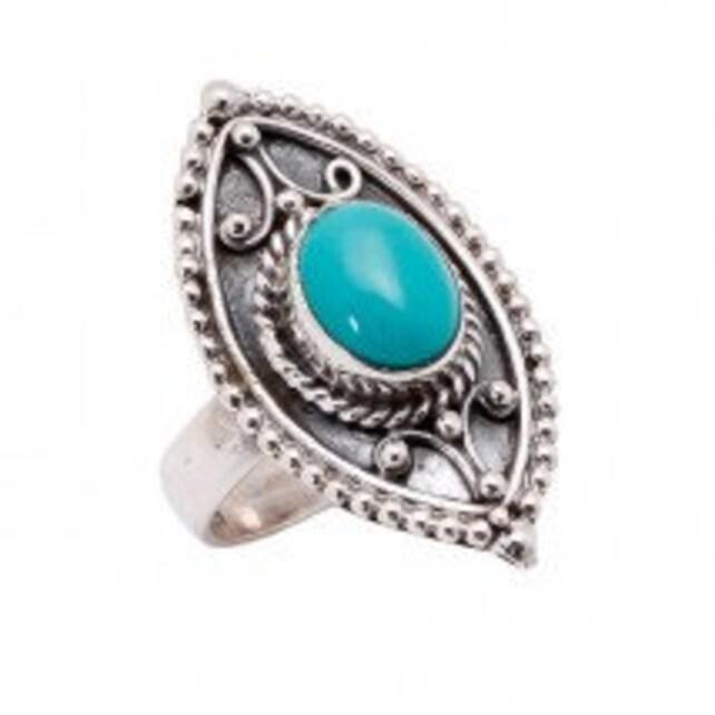 Türkis-Ring Blau Kupfer Türkis Schmuck   Etsy b91b1356cb