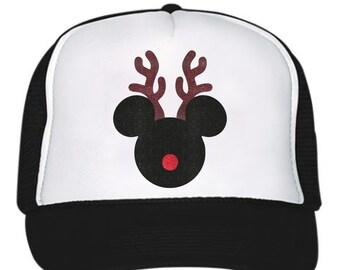 Reindeer Mouse Glitter Trucker Hat b7d0e99ce9ad