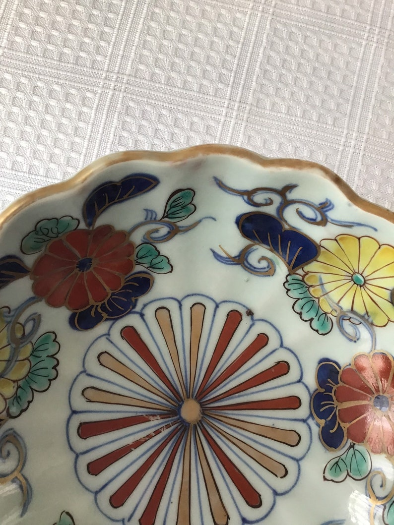 Hand-Painted No Maker\u2019s Mark Antique Chinese Japanese 19th Century Porcelain Bowl
