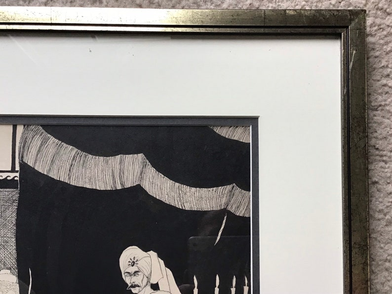 Vintage Engraving Lithograph Of King /& Queen Framed Under Glass