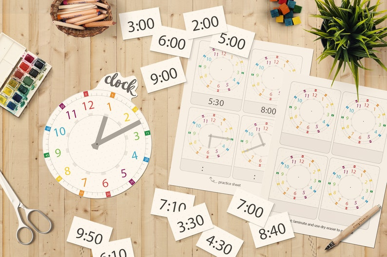 Clock Cutouts  Telling Time and Numeracy  Clock Fun Game  image 0