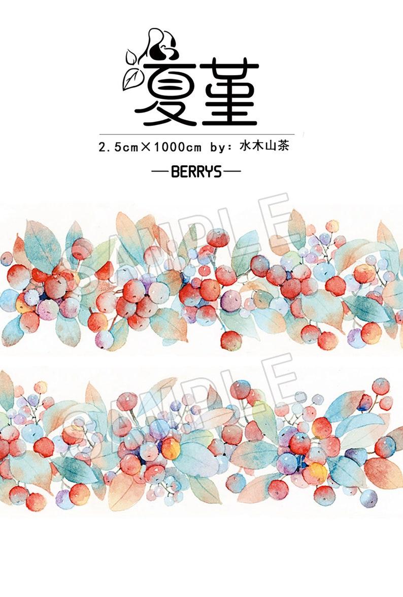Very Berry Washi Tape Sample