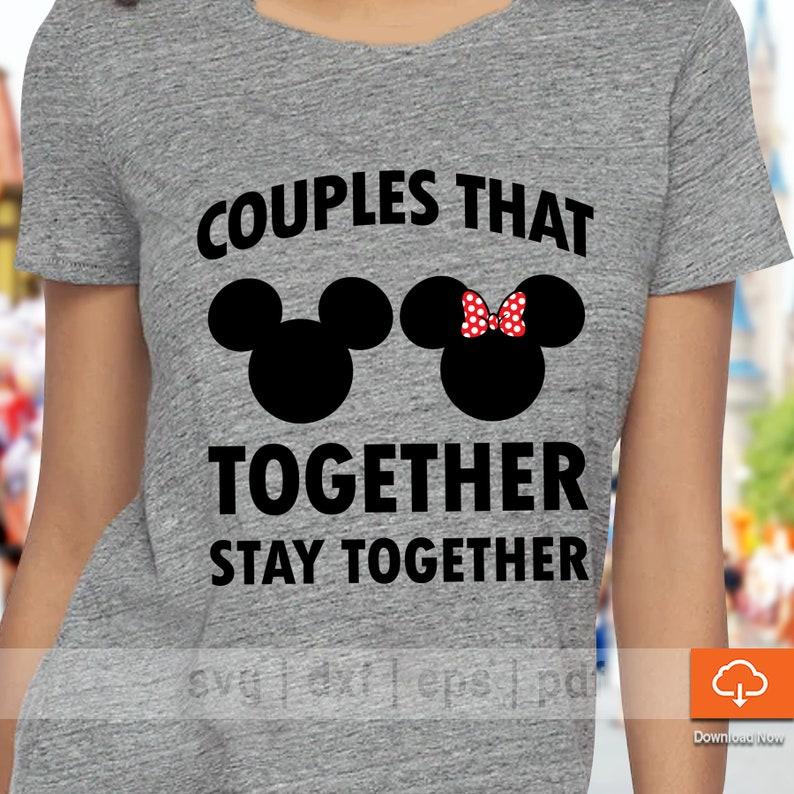 c1a03c7d4 Cute Couples Disney T shirt Design SVG Cutting Files Cute | Etsy
