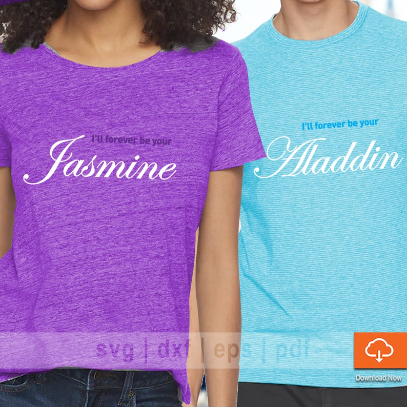 4788bdb90a76e His Hers Aladdin T shirt Design SVG Cutting Files - Couples SVG Cut Files  for Cricut and Cameo Silhouette Make Your Own Disney Shirt