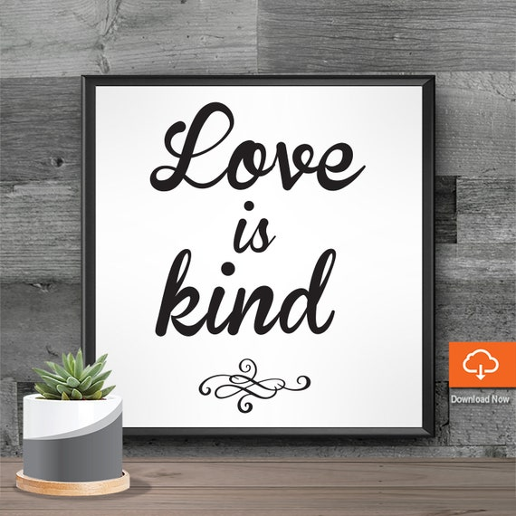 Love SVG Sayings Cut Files - Love Quotes , Cute Sayings , Wedding Quotes ,  Love Quotes SVG Stuff - Love is Kind Cricut Silhouette Cameo