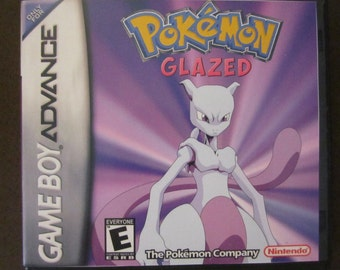 da3d18cc0d Pokemon Glazed Version in Case Fan Made Nintendo Game Boy Advance GBA Game.
