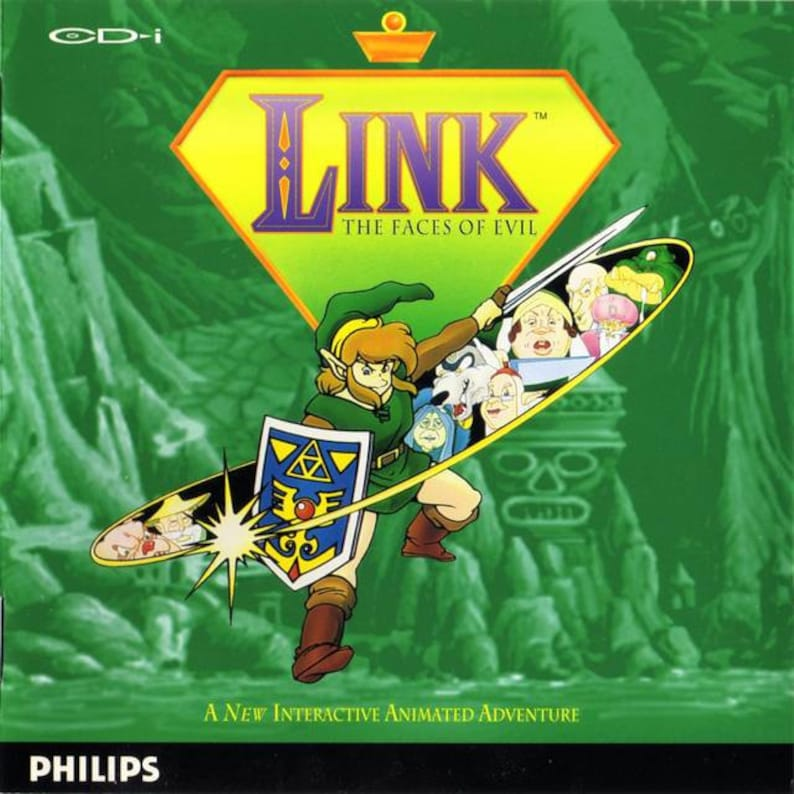 Link Faces of Evil Reproduction Custom Philips CDI Game  Zelda!