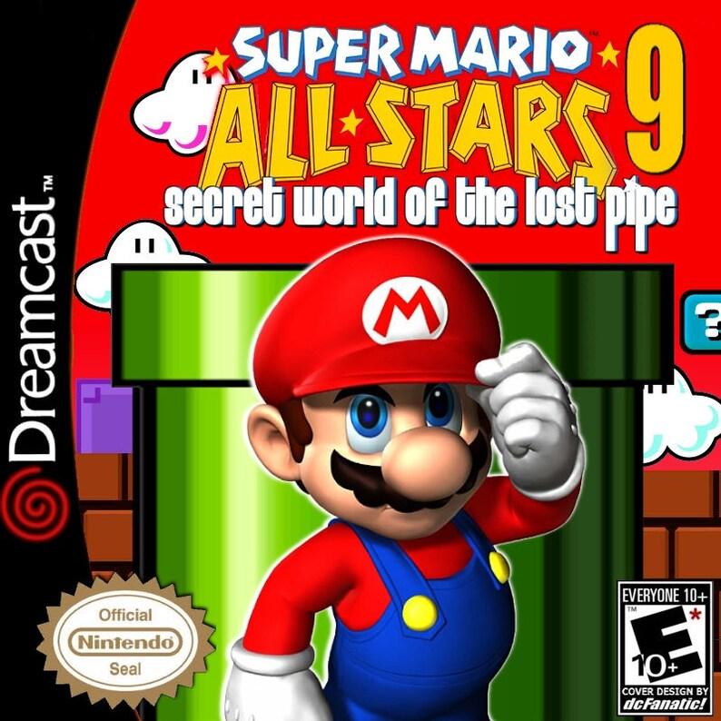 Super Mario All Stars 9 Secret World of the Lost Pipe Fan Made Custom Sega  Dreamcast Game  Super Mario Allstars! Super Mario World!