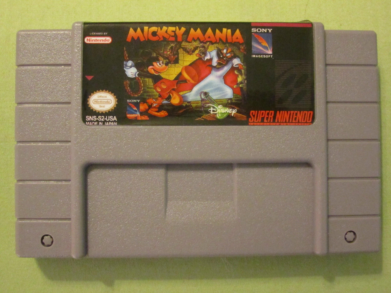 Mickey Mania Reproduction Super Nintendo SNES Game