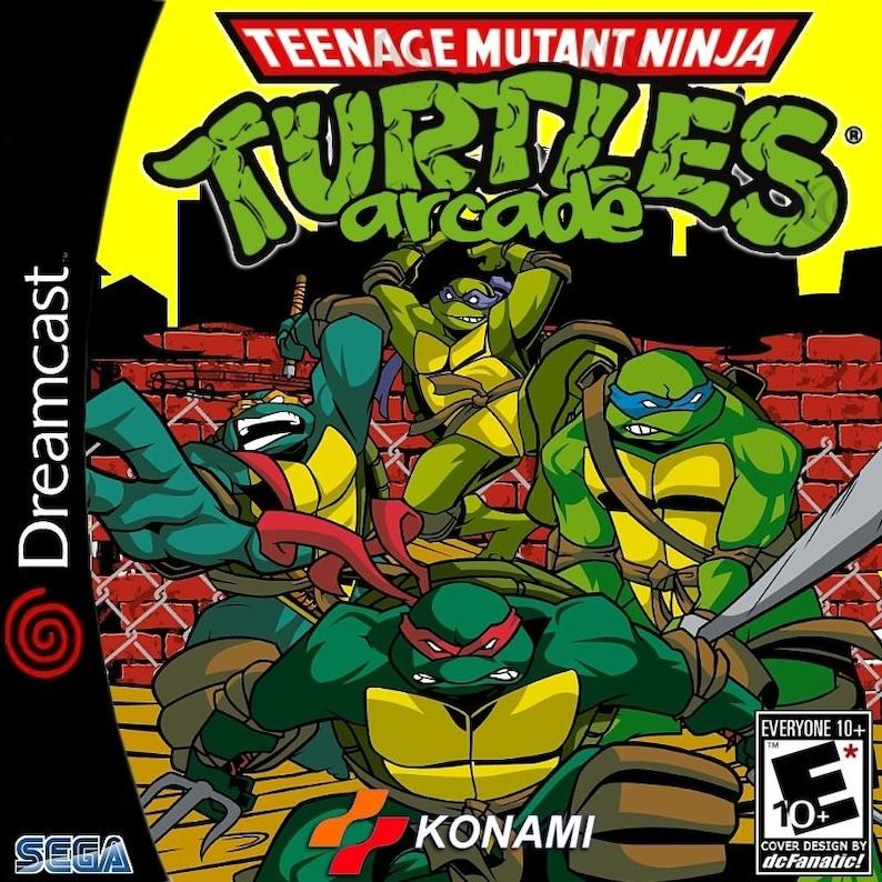 Teenage Mutant Ninja Turtles Arcade Game Fan Made Custom Sega Dreamcast  Game  TMNT