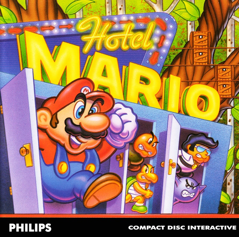 Hotel Mario Reproduction Custom Philips CDI Game