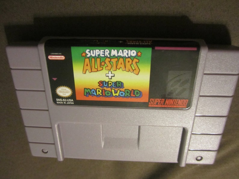 Super Mario All Stars + Super Mario World Reproduction Super Nintendo SNES  Game  Allstars