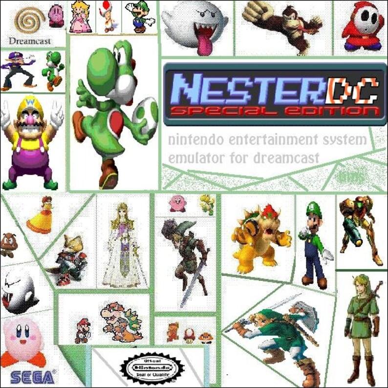 Nester DC Special Edition NES Nintendo Emulator Fan Made Custom Sega  Dreamcast Game  3100+ Games!