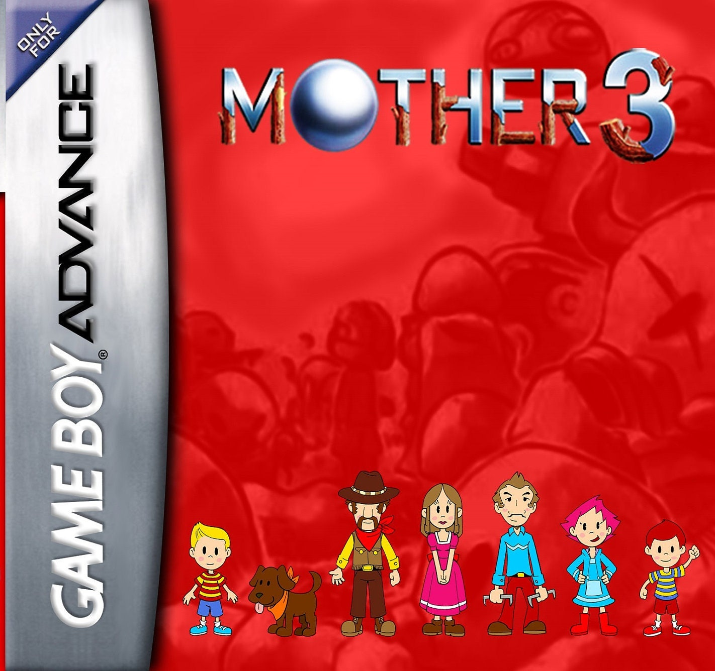 Mother 3 Complete in Case Fan Made Nintendo Game Boy Advance GBA Game   Mother3