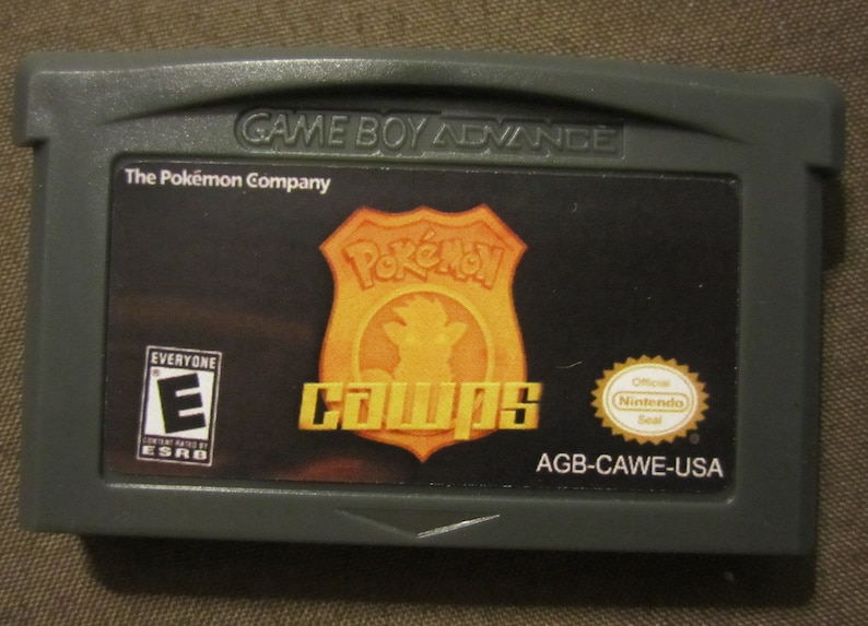 Pokemon CAWPS Version Fan Made Nintendo Game Boy Advance GBA Game   C A W P S
