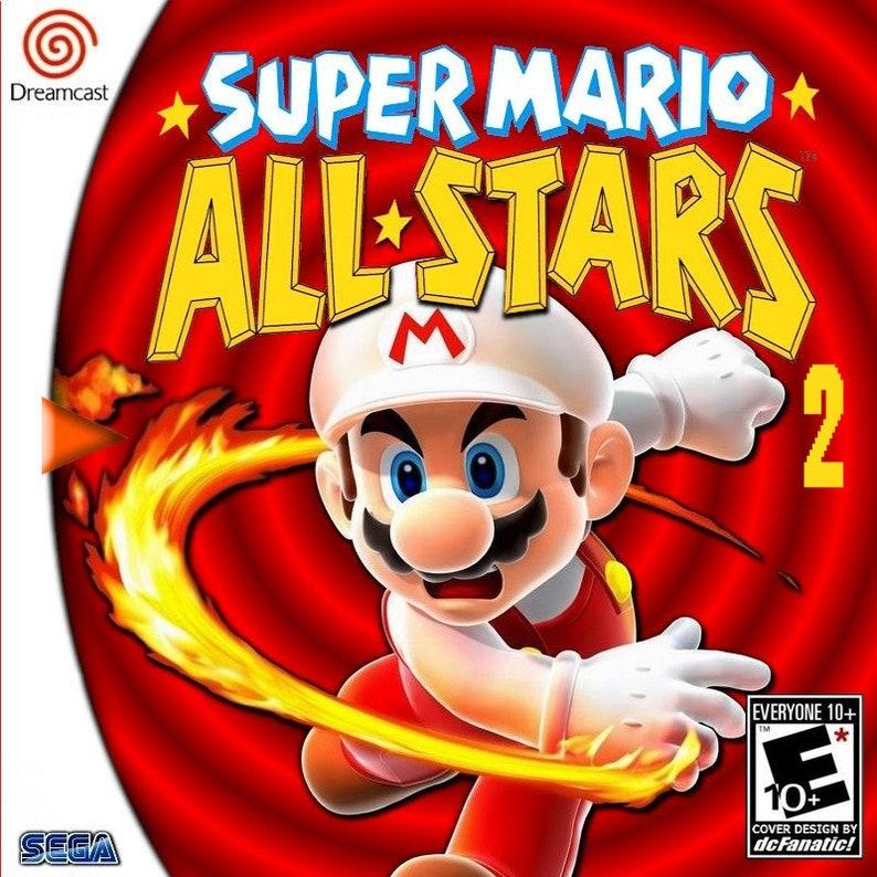 Super Mario Allstars 2 Fan Made Custom Sega Dreamcast Game  Super Mario All  Stars! Super Mario World! Super Mario Bros!