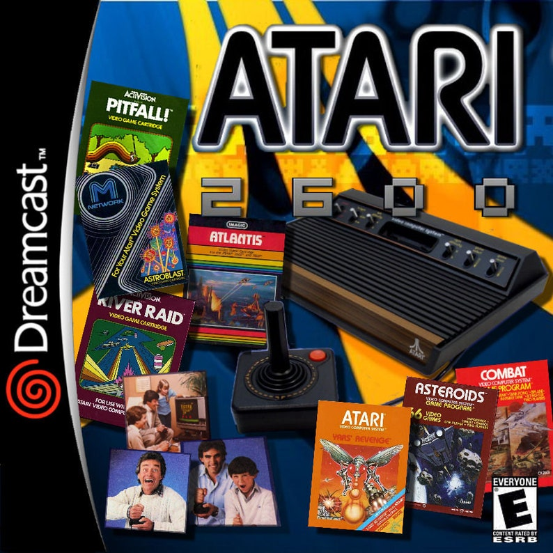 Atari 2600 Emulator Fan Made Custom Sega Dreamcast Game  Collection