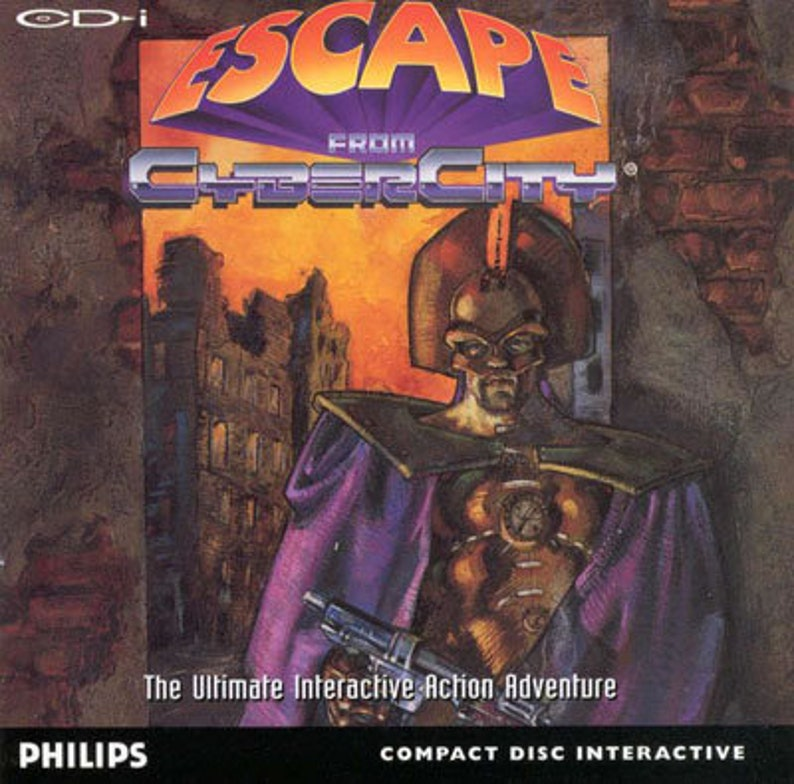 Escape From Cyber City Reproduction Custom Philips CDI Game