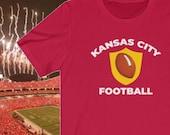 Kansas City Football T-Shirt, Vintage KC Football Shirt, Kansas City Football Gift Idea, Kansas City Apparel, Kansas City Shirt